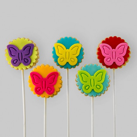 """Butterflies"" Thrifty Cookies for birthday gift"
