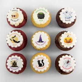 Halloween illustration cupcakes