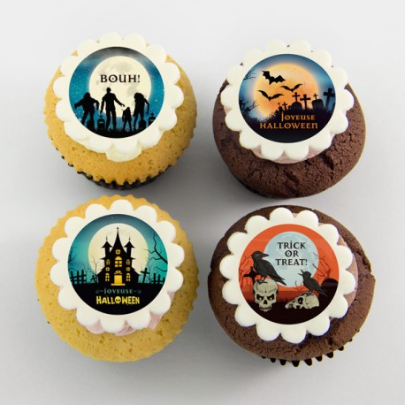 Les cupcakes «pleine lune» d'Halloween