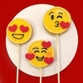 The emoji-heart cookies
