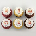 Valentine Cupcakes with Cupids illustrations