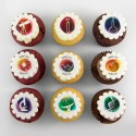 """""""Science"""" cupcakes for themed birthday"""