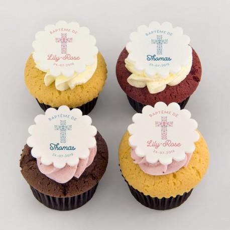 Cupcakes baptême