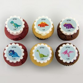 """Dinosaur"" cupcakes for birth, baby shower or birthday party"