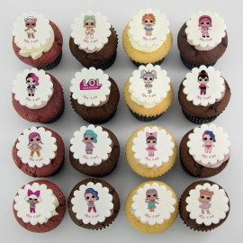 L.O.L. Surprise dolls theme cupcakes