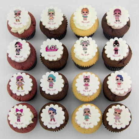 L.O.L. Surprise dolls theme cupcakes