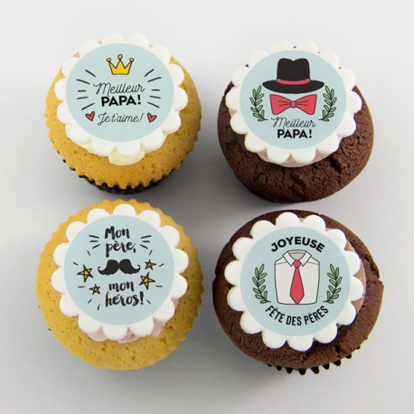 Happy Father's Day «Best Dad» cupcakes