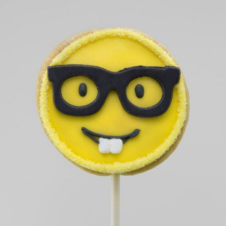Father's Day glasses emoji cookie