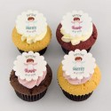 Angel cupcakes for baptism or baby shower