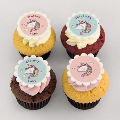 """Unicorns"" cupcakes for children birthdays"