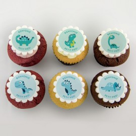 """dinosaurs"" cupcakes for birth, baby shower or birthday party"