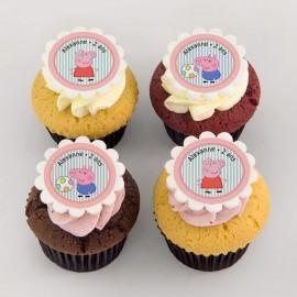 Peppa-Pig theme cupcakes