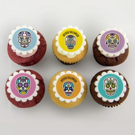 «Dia de los muertos» illustration Cupcakes for Halloween