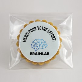 Branded corporate cookies : Pure butter shortbread without stick