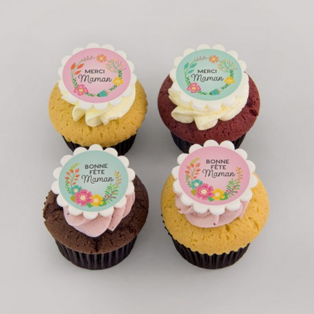 """Pure butter """"floral wreath"""" cupcakes for Mother's day"""