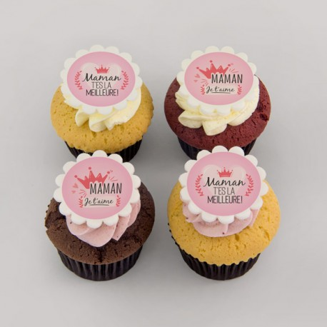 """Pure butter """"crown"""" cupcakes for Mother's day"""