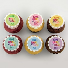 «Back-to-school» colorful cupcakes
