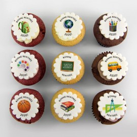 """School"" cupcakes for ""back to school"""