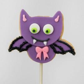 Halloween Thirsty Vampire shortbread cookie