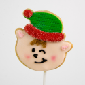 Christmas Cookie: Santa's playful elf