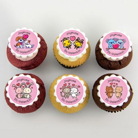 Loving animal couple Cupcakes