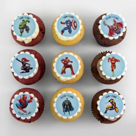 Super-Hero theme cupcakes