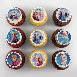 «Frozen» theme cupcakes