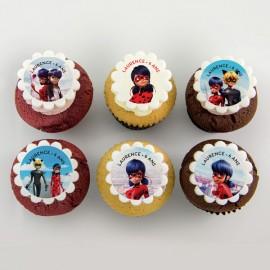 Miraculous: Ladybug and Black Cat cupcakes