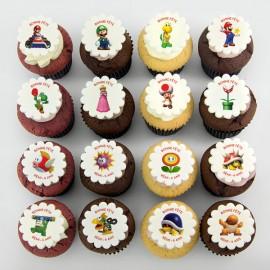 Mario Bros theme cupcakes