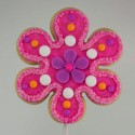 Peace and love flower shortbread cookie