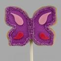 Butterfly shortbread cookie