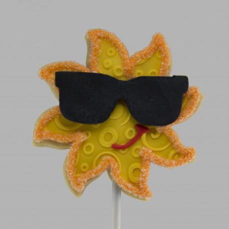 Sun shortbread cookie