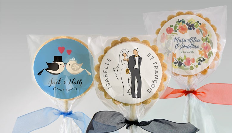 Personalized Wedding Shortbread Cookies with Edible printing