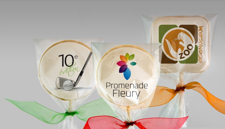 Cadeaux corporatifs : biscuits et cupcakes personnalisés avec logo en impression comestible