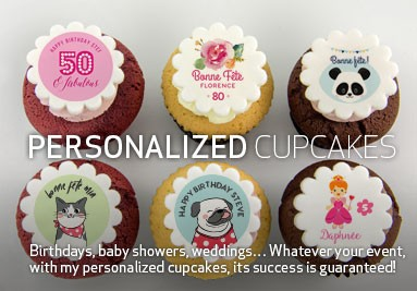 Personalized birthday or anniversary cupcakes