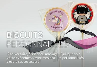 Biscuits personnalisés pour anniversaire, naissance, mariage, etc.